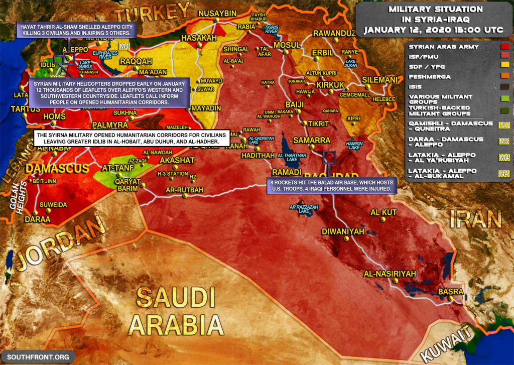 Military Situation In Syria And Iraq On January 12, 2020 (Map Update)