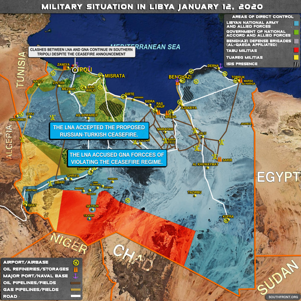 Military Situation In Libya On January 12, 2020 (Map Update)
