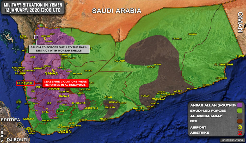 Military Situation In Yemen On January 12, 2020 (Map Update)