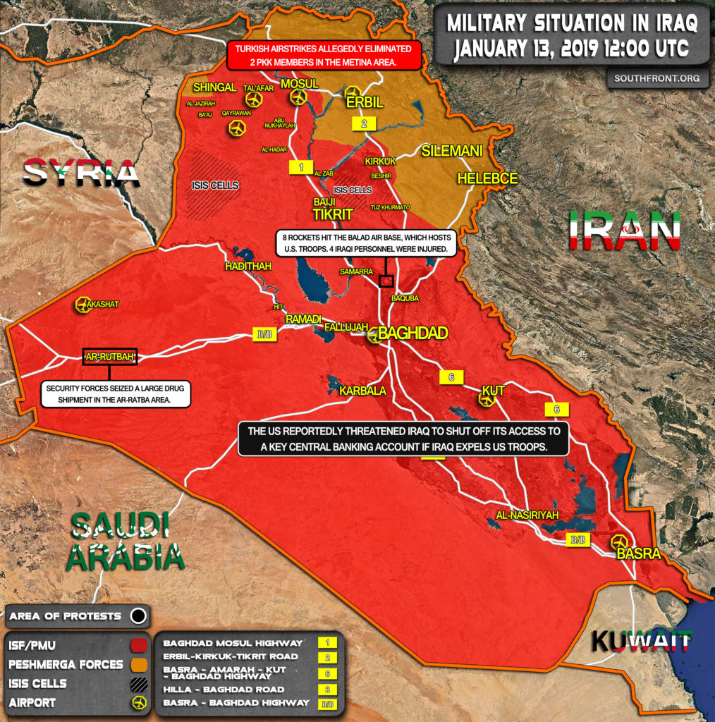 Military Situation In Iraq On January 13, 2020 (Map Update)