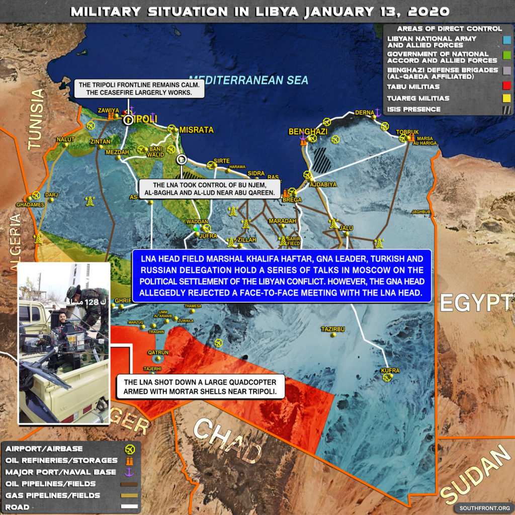 Military Situation In Libya On January 13, 2020 (Map Update)