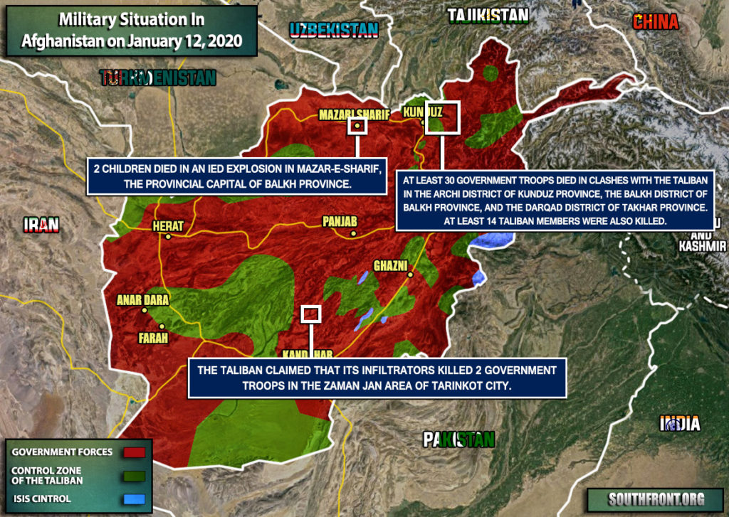 Military Situation In Afghanistan On January 14, 2020 (Map Update)