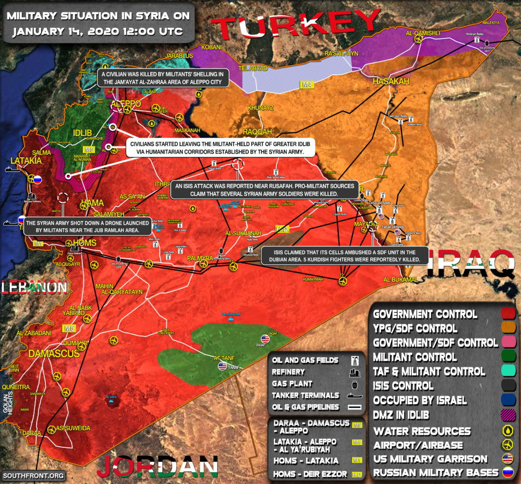 Military Situation In Syria On January 14, 2020 (Map Update)