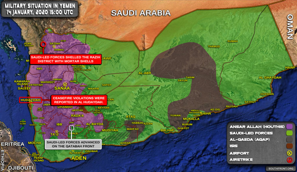 Military Situation In Yemen On January 14, 2020 (Map Update)
