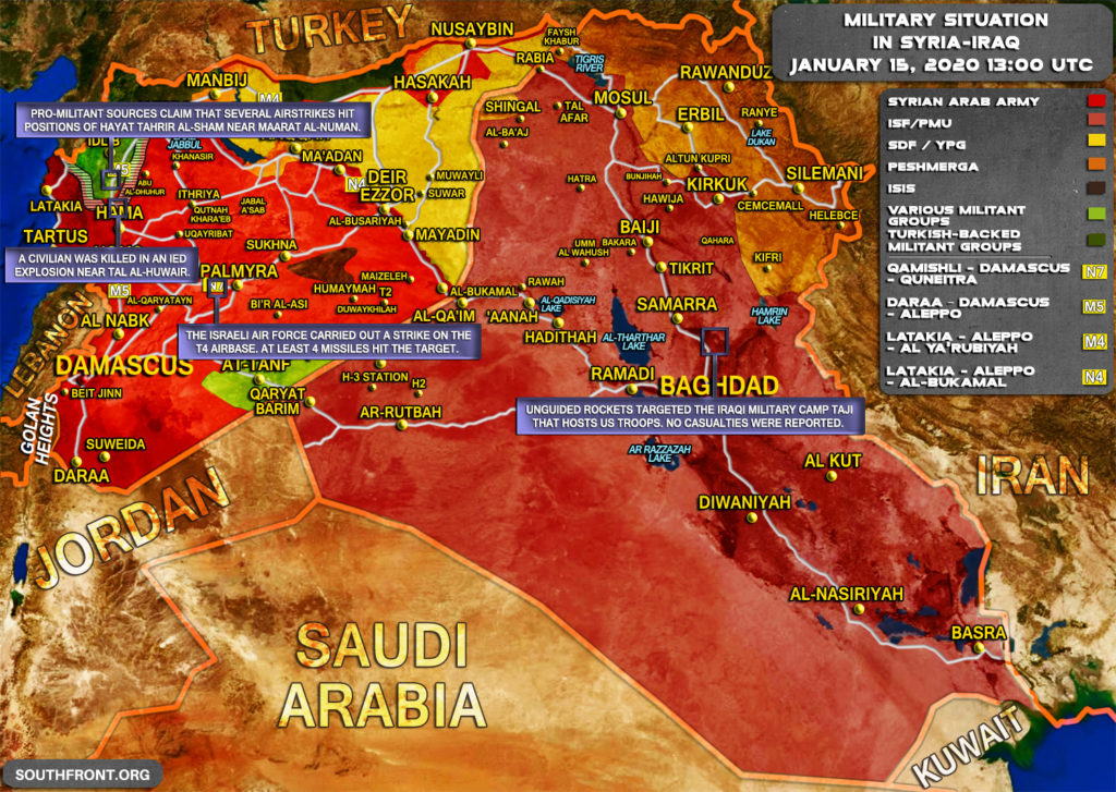 Military Situation In Syria And Iraq On January 14, 2020 (Map Update)