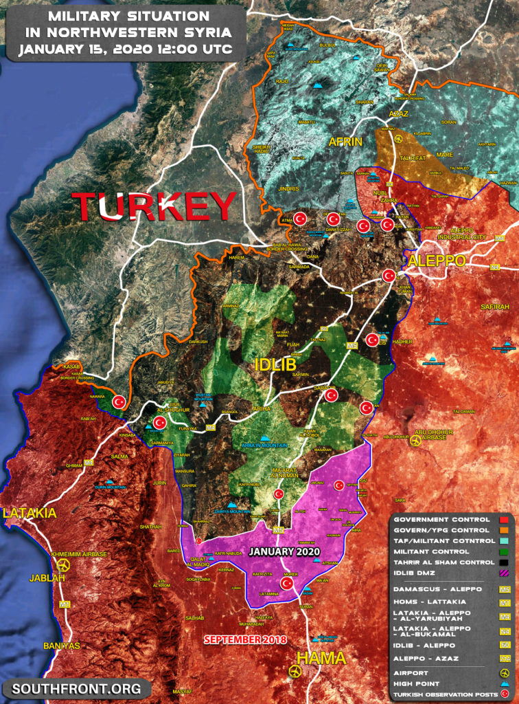 Map Comparison: Military Situation In Southern Idlib In September 2018 And January 2020