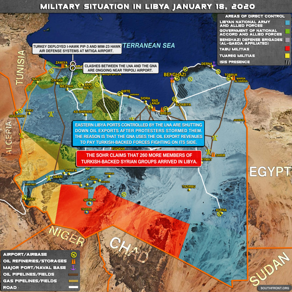 Military Situation In Libya On January 18, 2020 (Map Update)