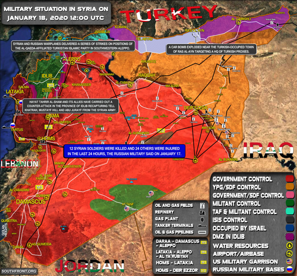 Military Situation In Syria On January 18, 2020 (Map Update)
