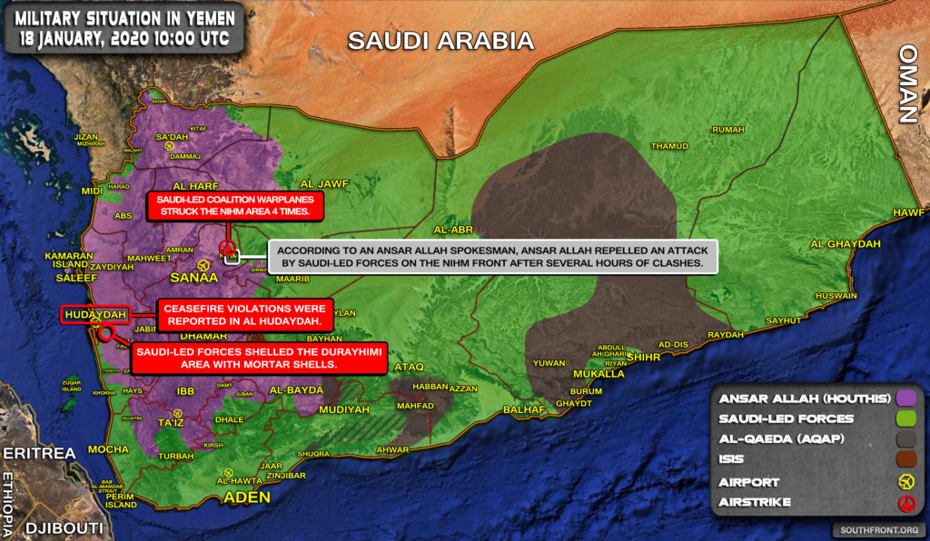Military Situation In Yemen On January 18, 2020 (Map Update)