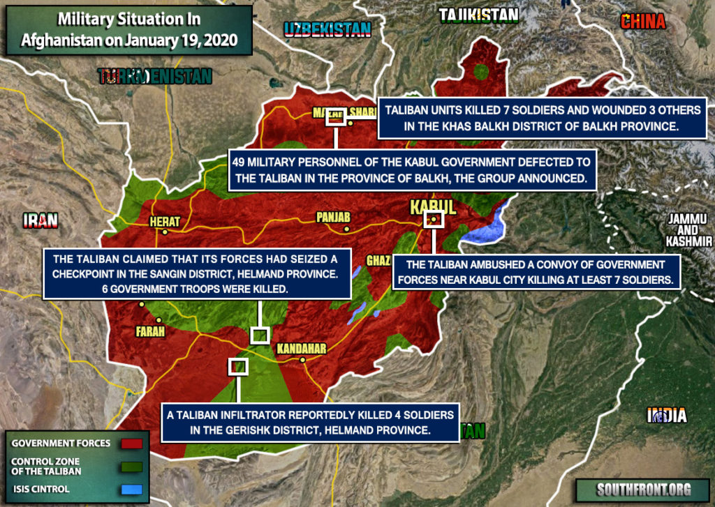 Military Situation In Afghanistan On January 19, 2020 (Map Update)