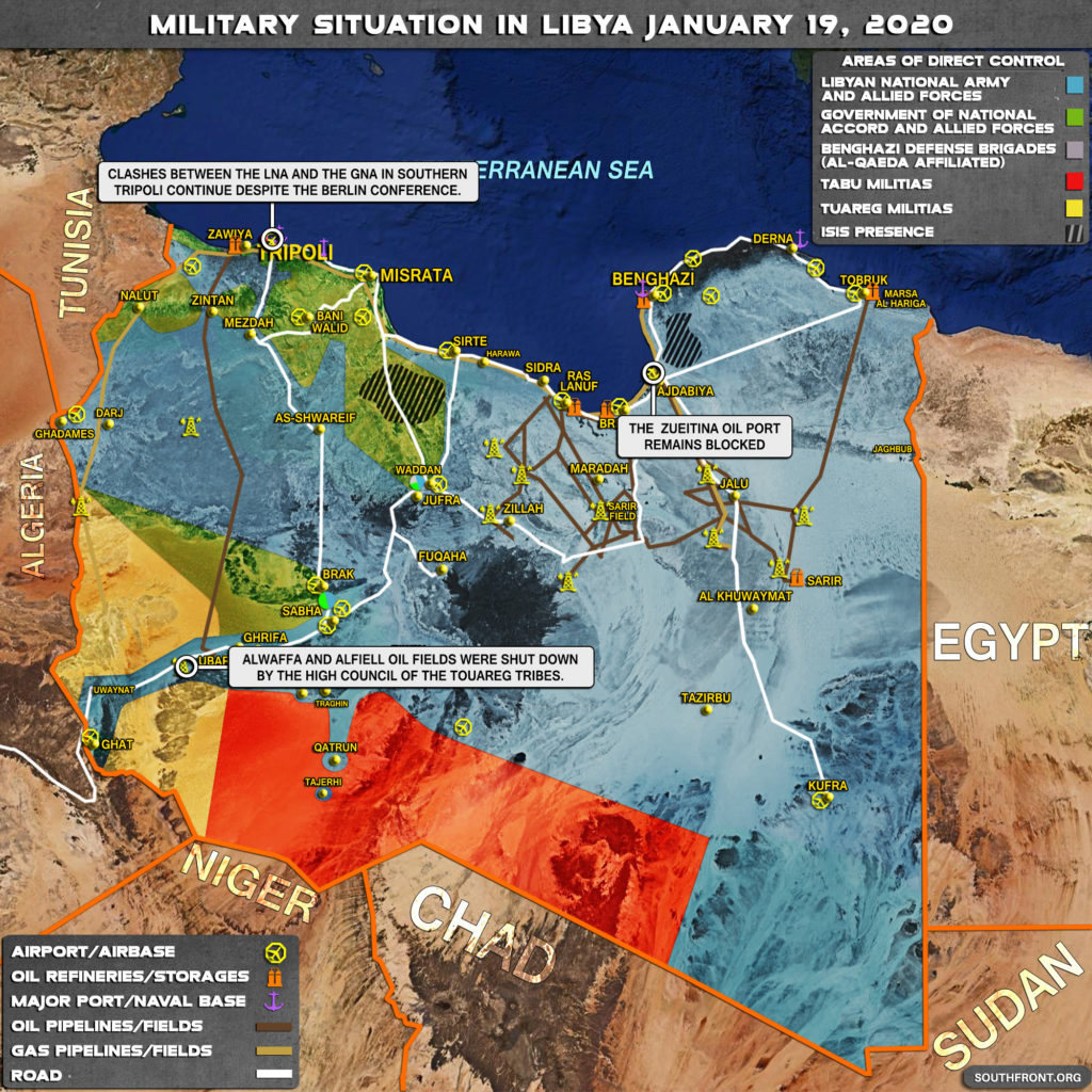 Military Situation In Libya On January 19, 2019 (Map Update)
