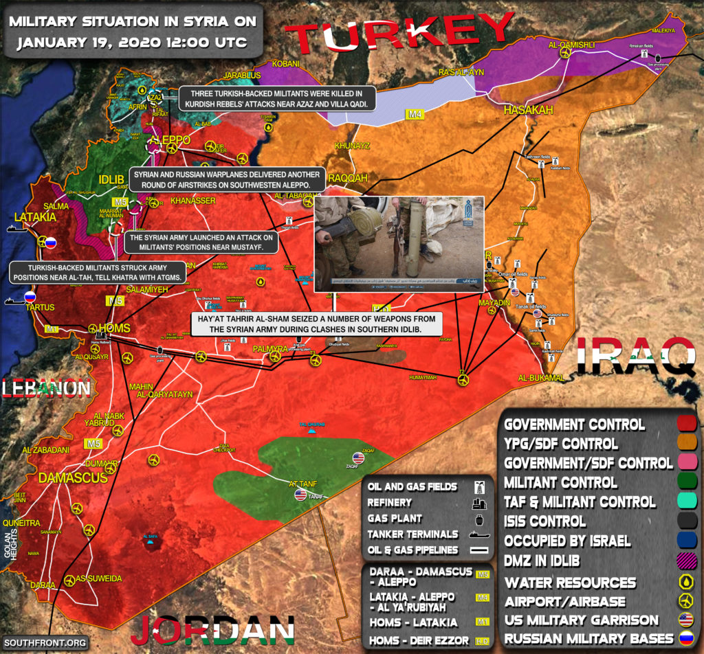Military Situation In Syria On January 19, 2020 (Map Update)