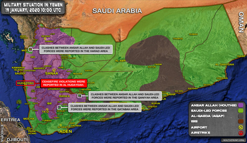 Military Situation In Yemen On January 19, 2020 (Map Update)