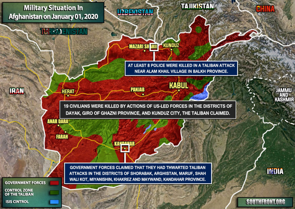 Military Situation In Afghanistan On January 1, 2020 (Map Update)