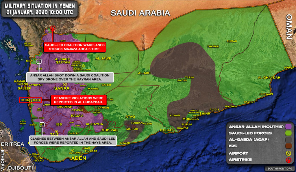 Military Situation In Yemen On January 1, 2020 (Map Update)