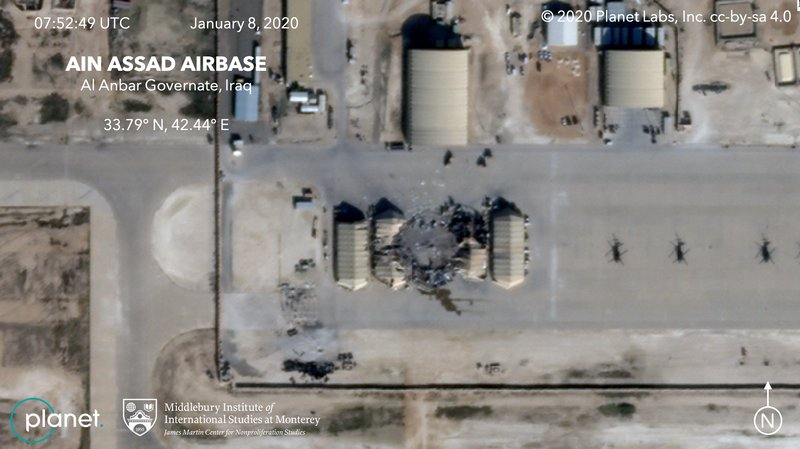 Satellite Images Show Impact Of Iranian Missile Strike On US Military Base In Iraq