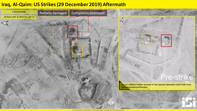 Satellite Images: Impact Of US Strikes On Positions Of Kataib Hezbollah On Syrian-Iraqi Border
