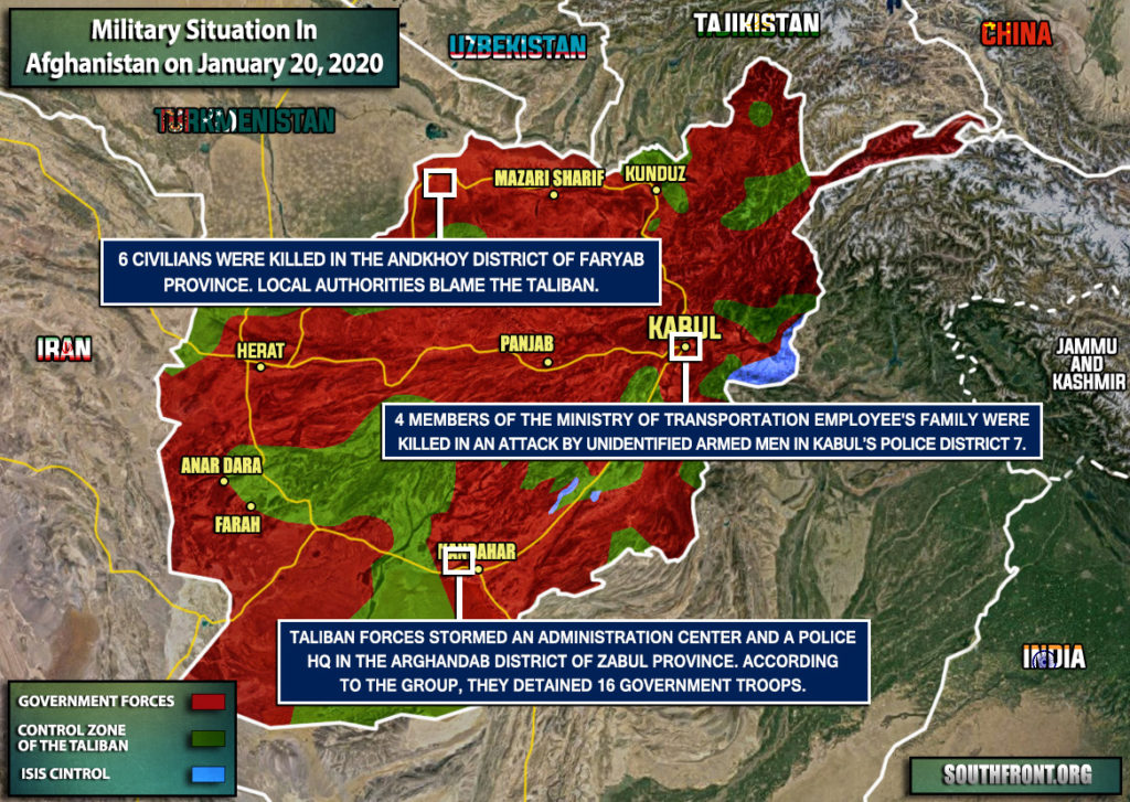 Military Situation In Afghanistan On January 20, 2020 (Map Update)