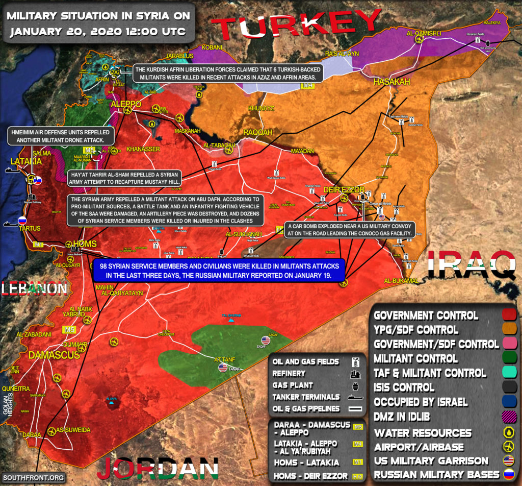 Military Situation In Syria On January 20, 2020 (Map Update)