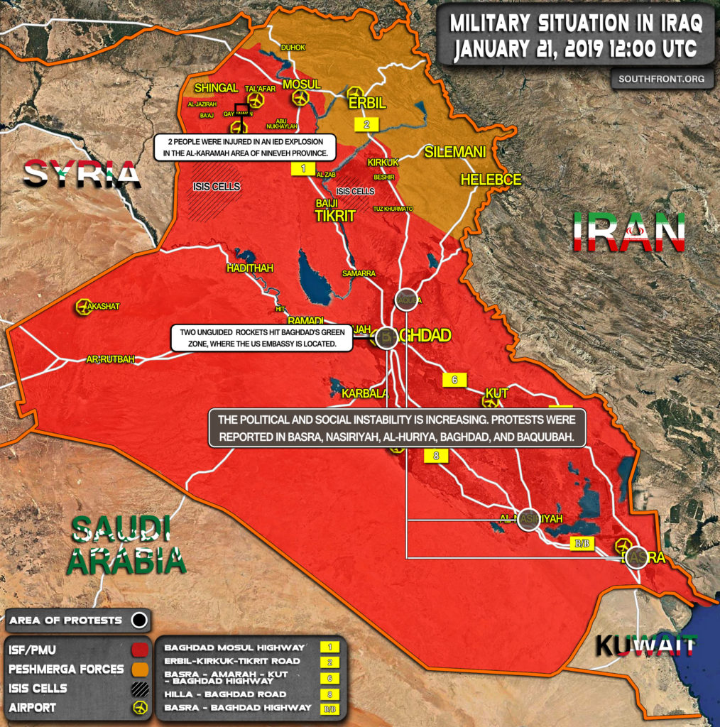 Military Situation In Iraq On January 21, 2020 (Map Update)