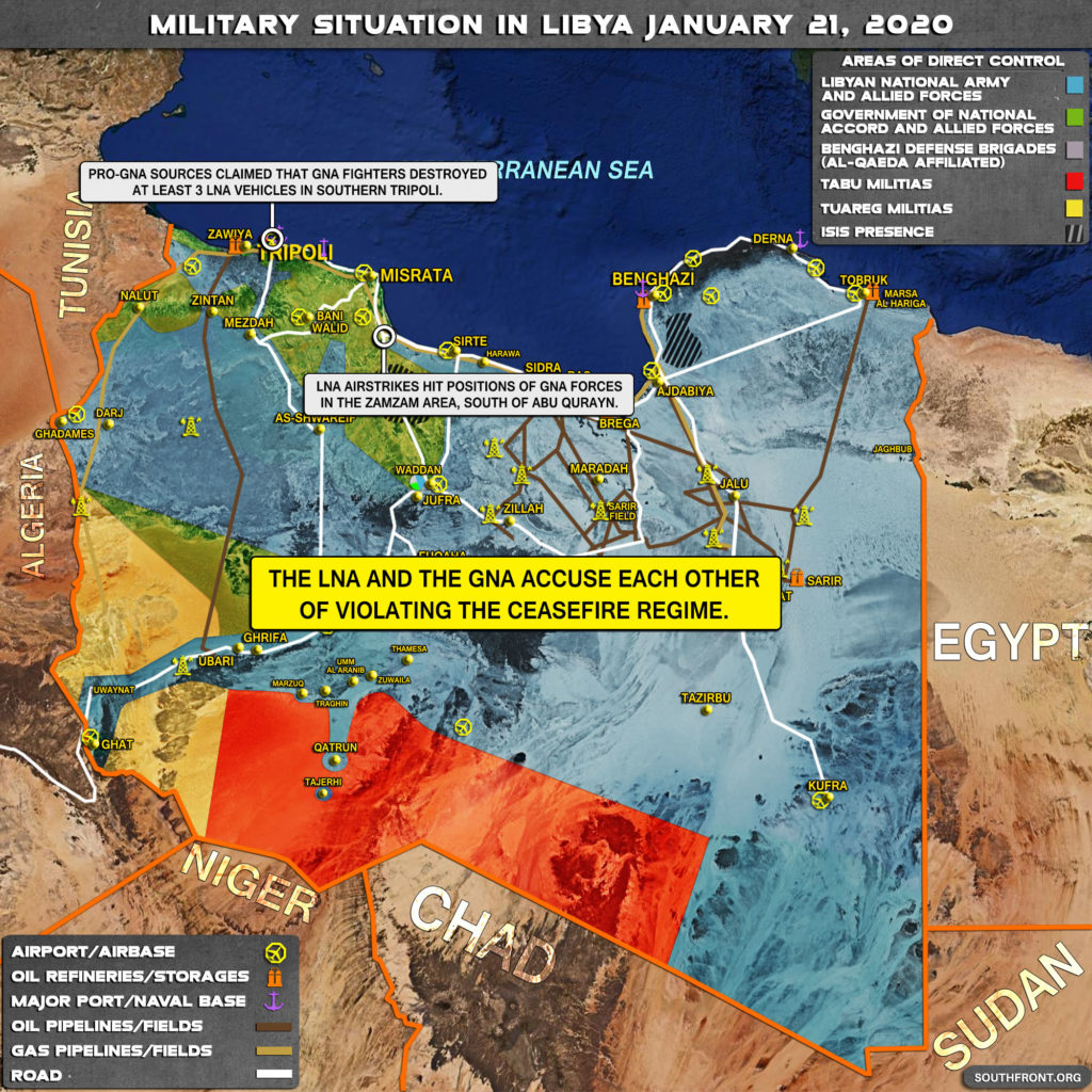 Military Situation In Libya On January 21, 2020 (Map Update)