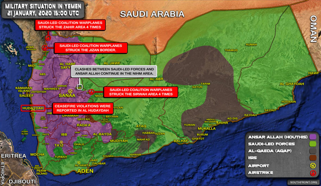 Military Situation In Yemen On January 21, 2020 (Map Update)