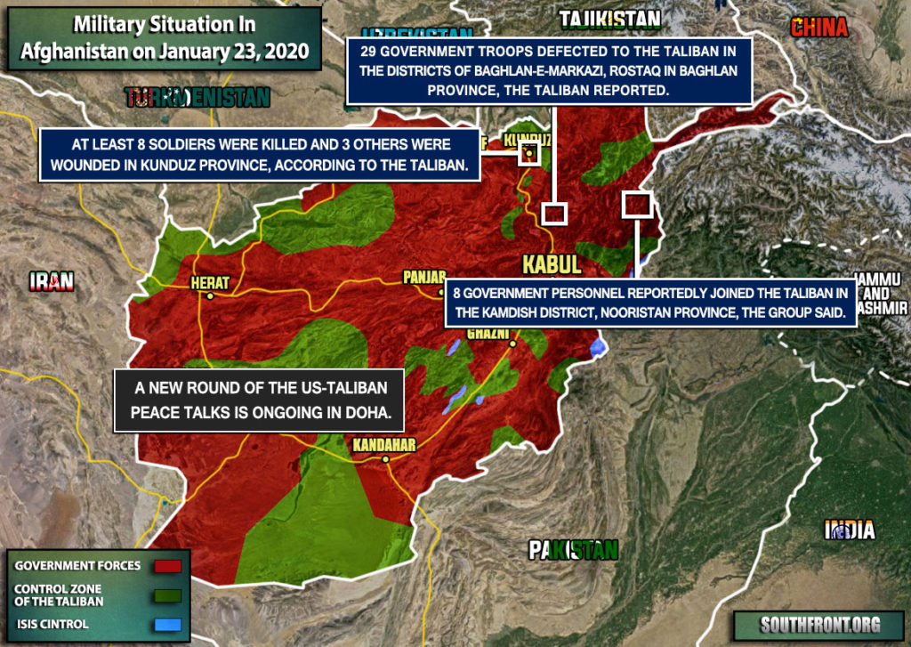 Military Situation In Afghanistan On January 23, 2020 (Map Update)