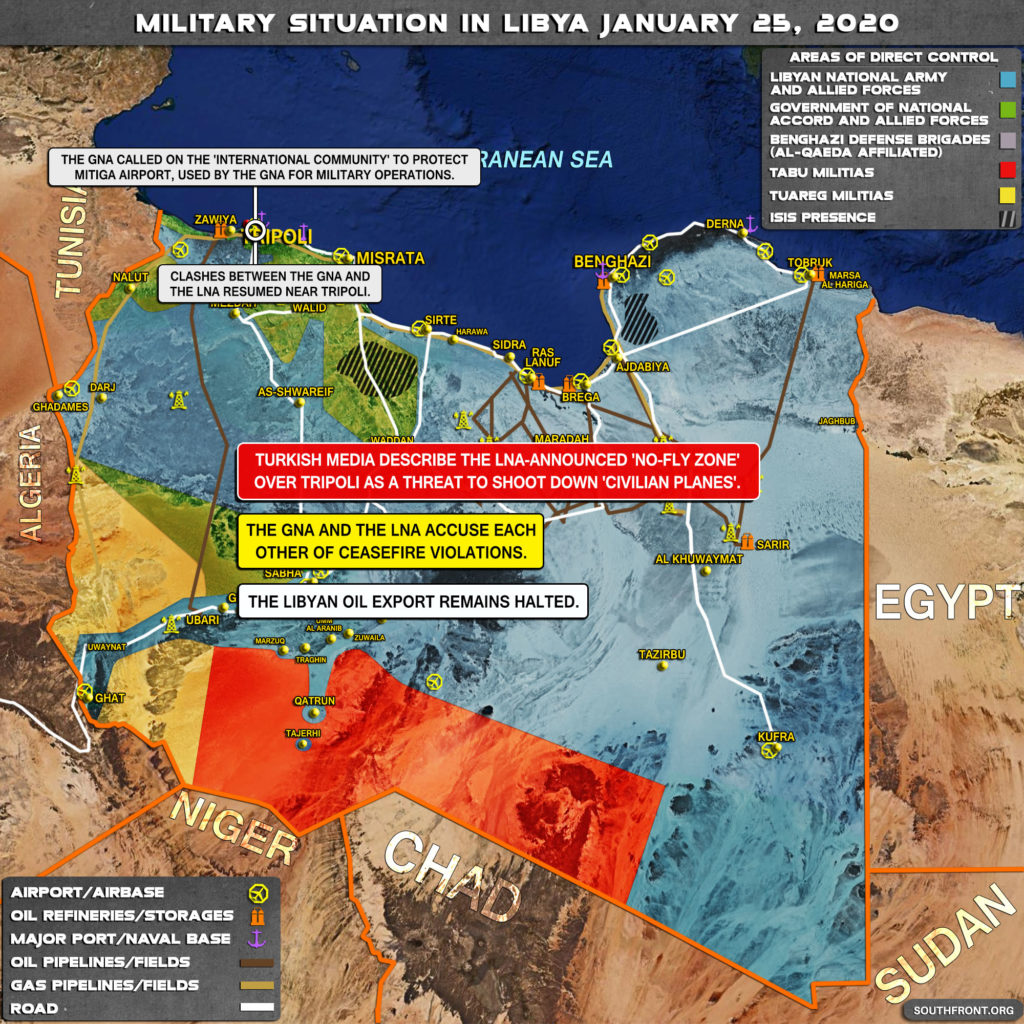 Military Situation In Libya On January 25, 2020 (Map Update)