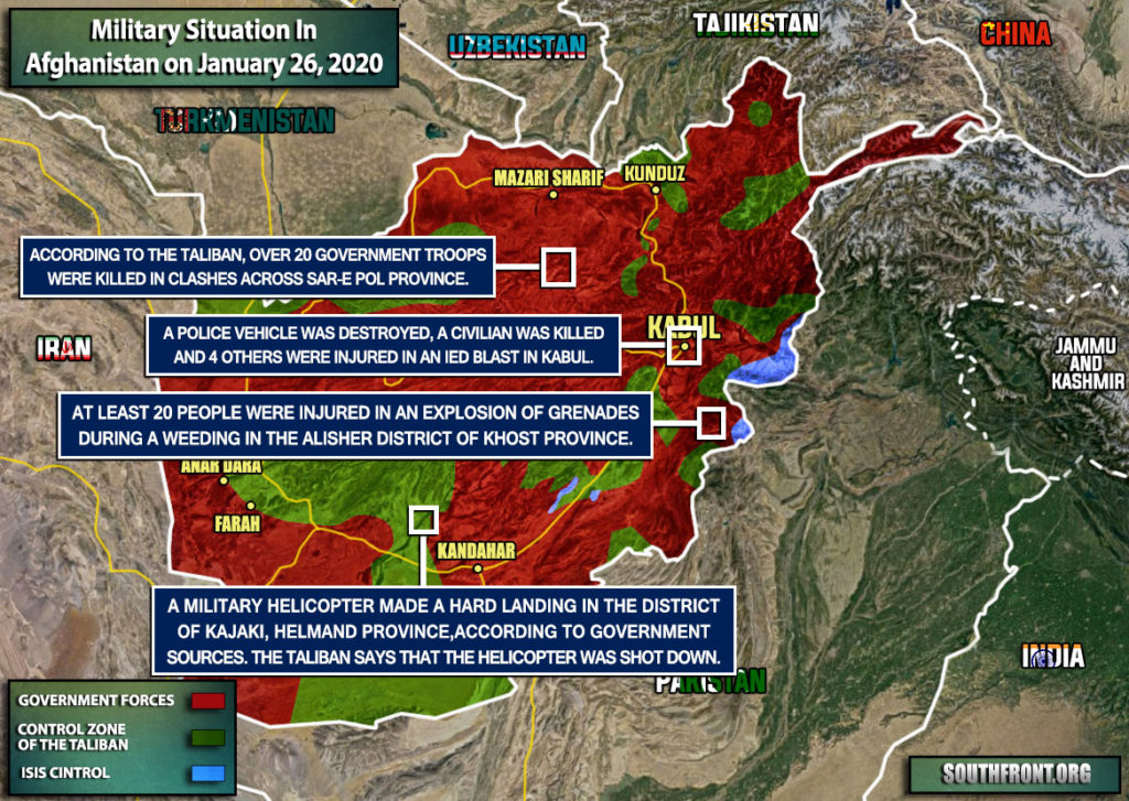 Military Situation In Afghanistan On January 26, 2020 (Map Update)