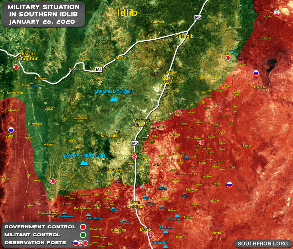 Map Update: Military Situation In Southern Idlib Following Recent Advances By Syrian Army