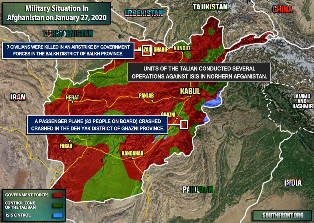 Military Situation In Afghanistan On January 27, 2020 (Map Update)