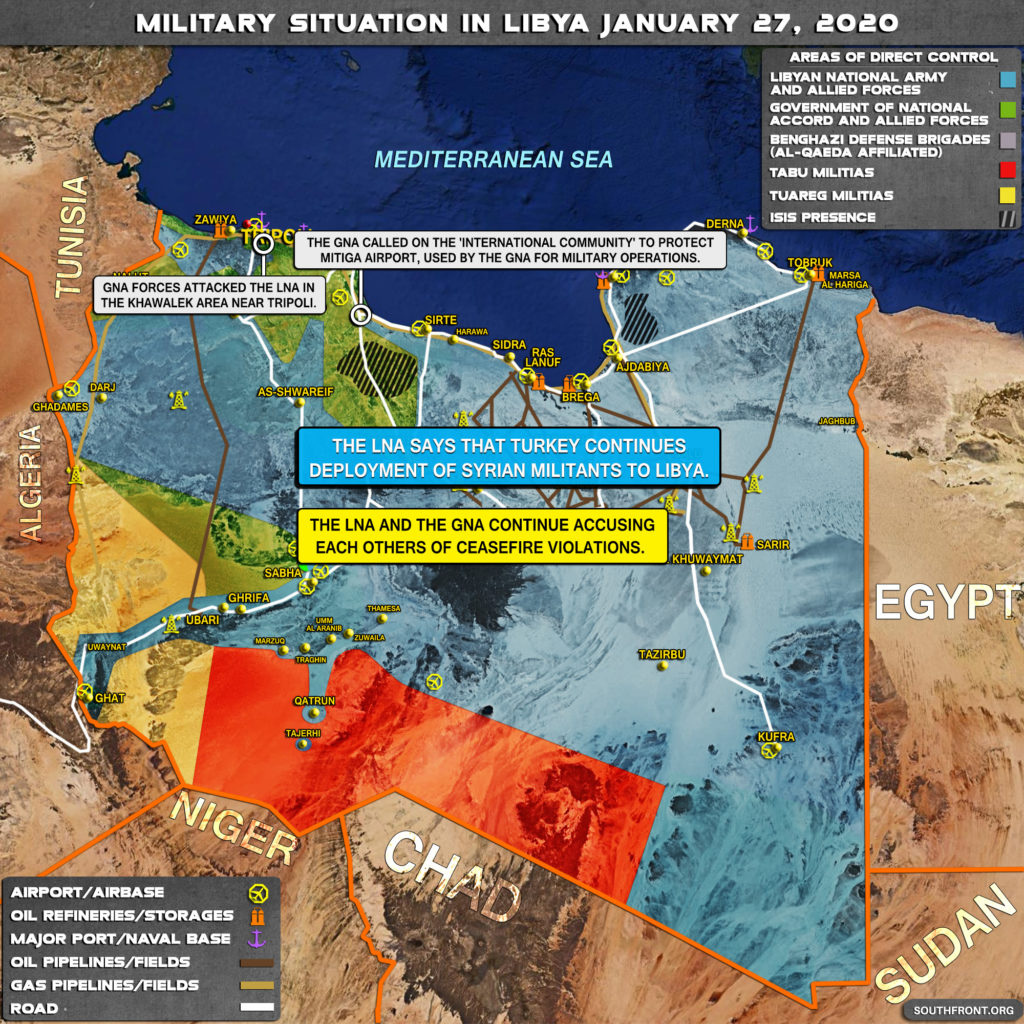 Military Situation In Libya On January 27, 2020 (Map Update)