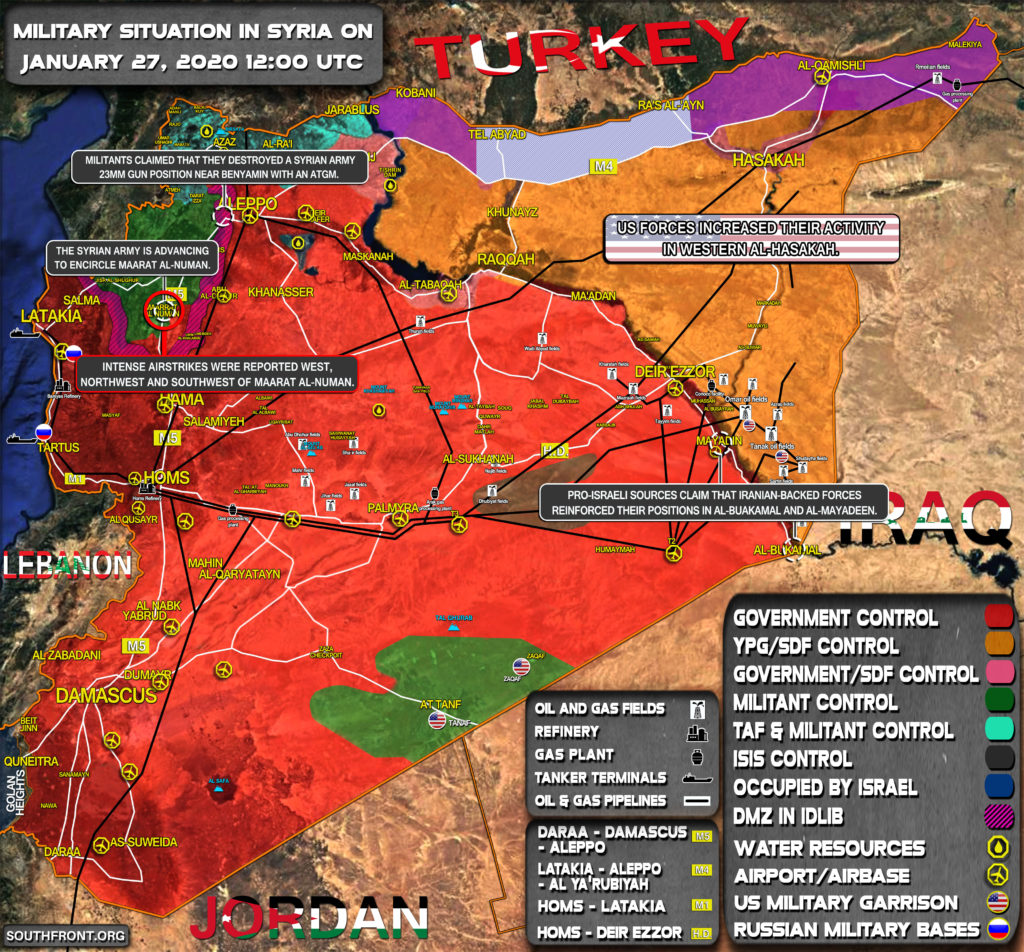Military Situation In Syria On January 27, 2020 (Map Update)