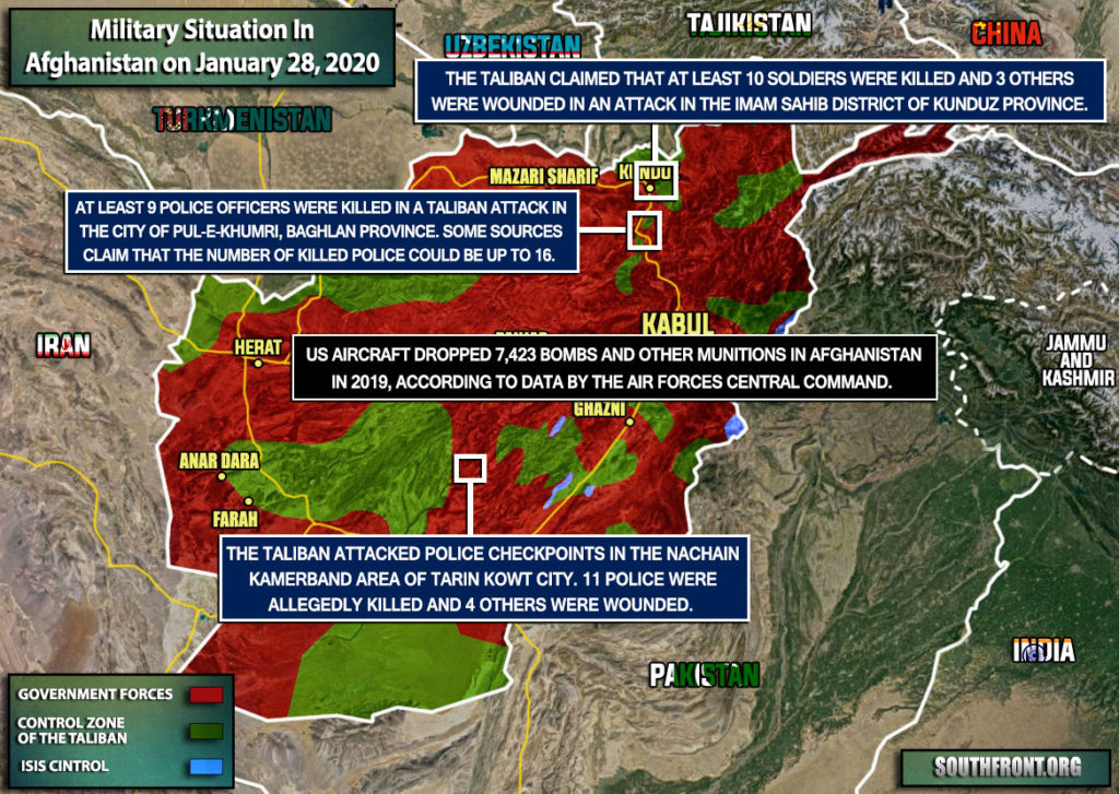 Military Situation In Afghanistan On January 28, 2020 (Map Update)