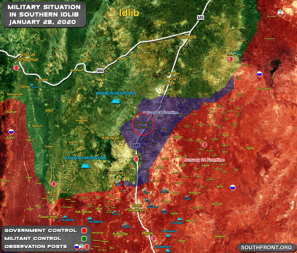 Maarat Al-Numan Is Liberated By Syrian Army (Map Update)