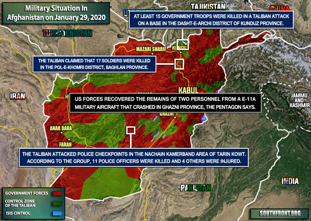 Military Situation In Afghanistan On January 29, 2020 (Map Update)