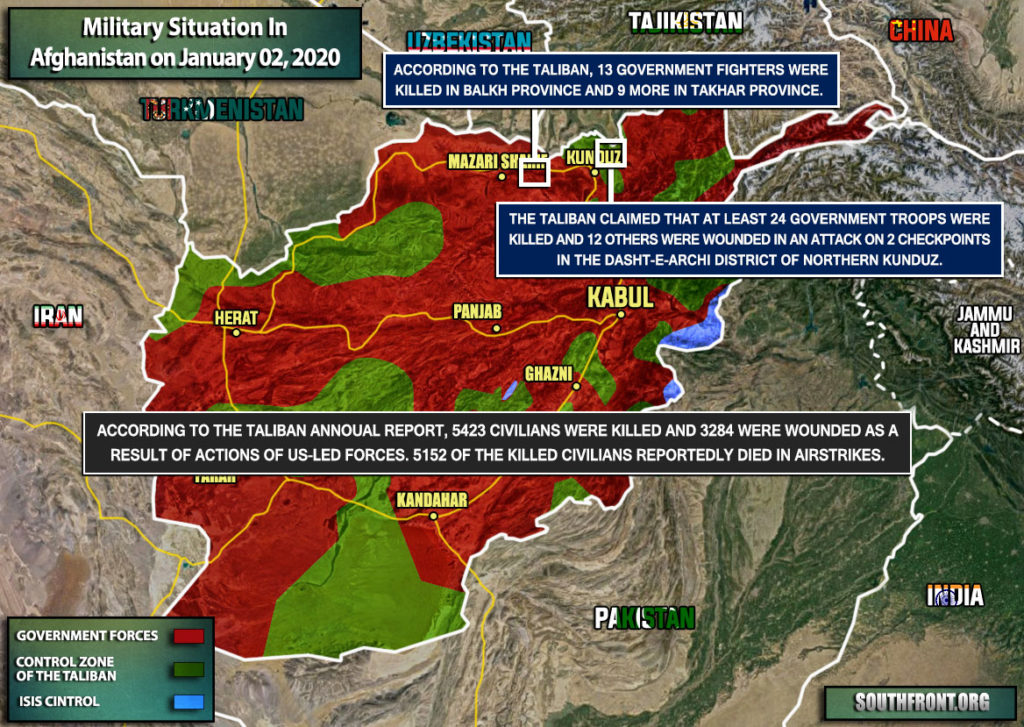 Military Situation In Afghanistan On January 2, 2020 (Map Update)