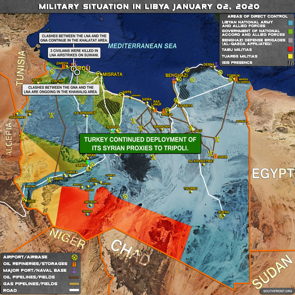 Military Situation In Libya On January 2, 2019 (Map Update)