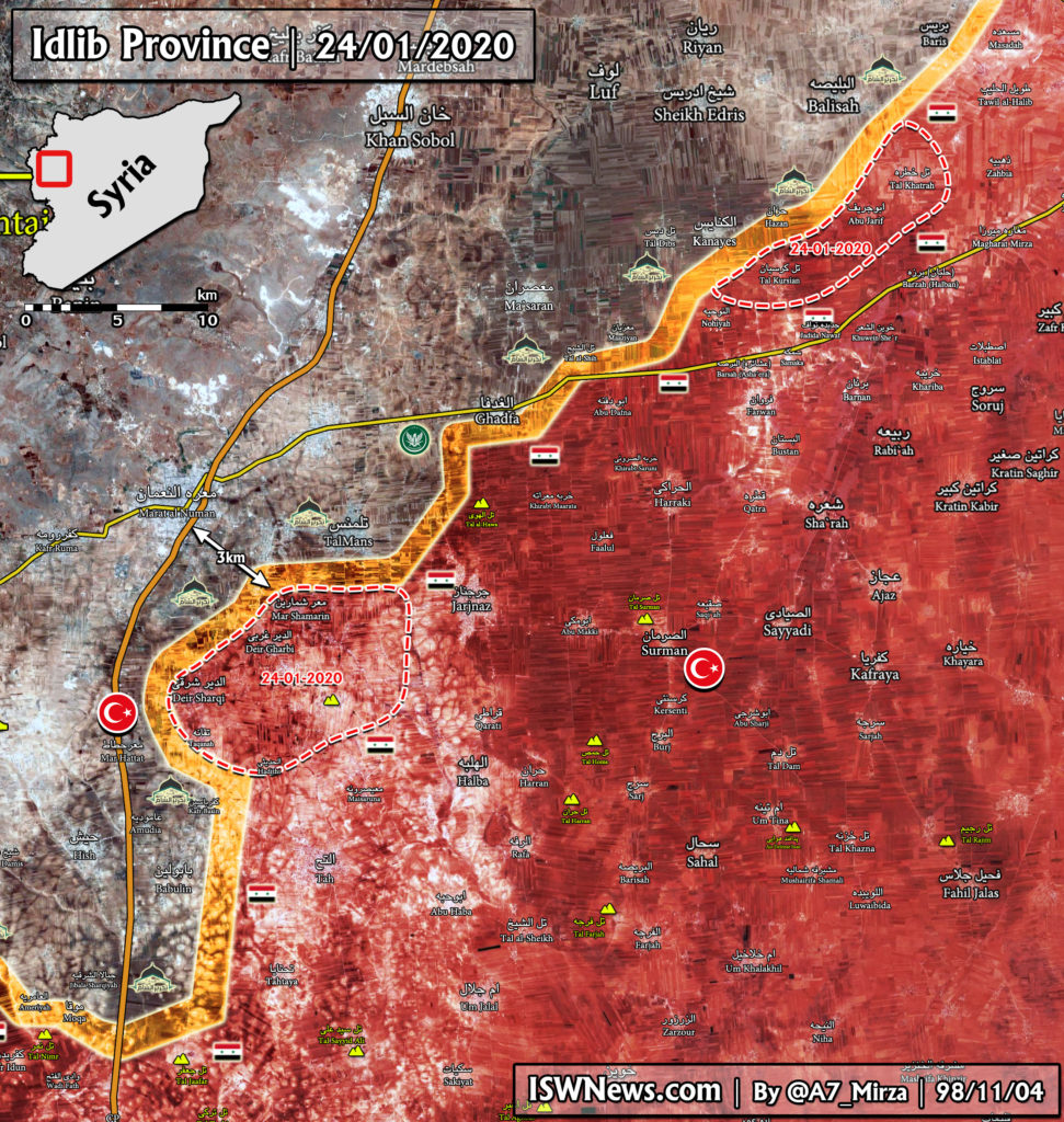 Map Update: Military Situation In Southern Idlib Following Last Night Advance By Syrian Army
