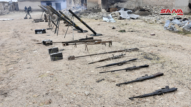 Syrian Army Finds Weapons, Including TOW Launcher, In Southeast Idlib (Photos)