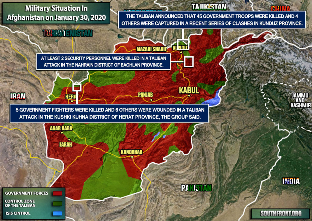 Military Situation In Afghanistan On January 30, 2020 (Map Update)