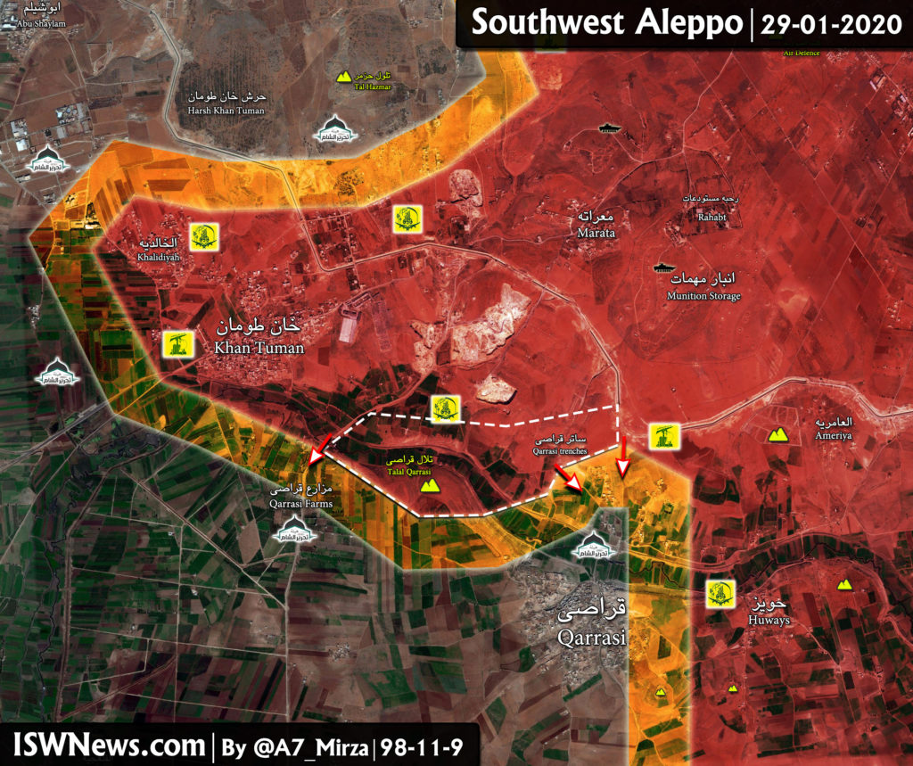 Map Update: Military Situation In Southwestern Aleppo Following Liberation Of Khan Tuman