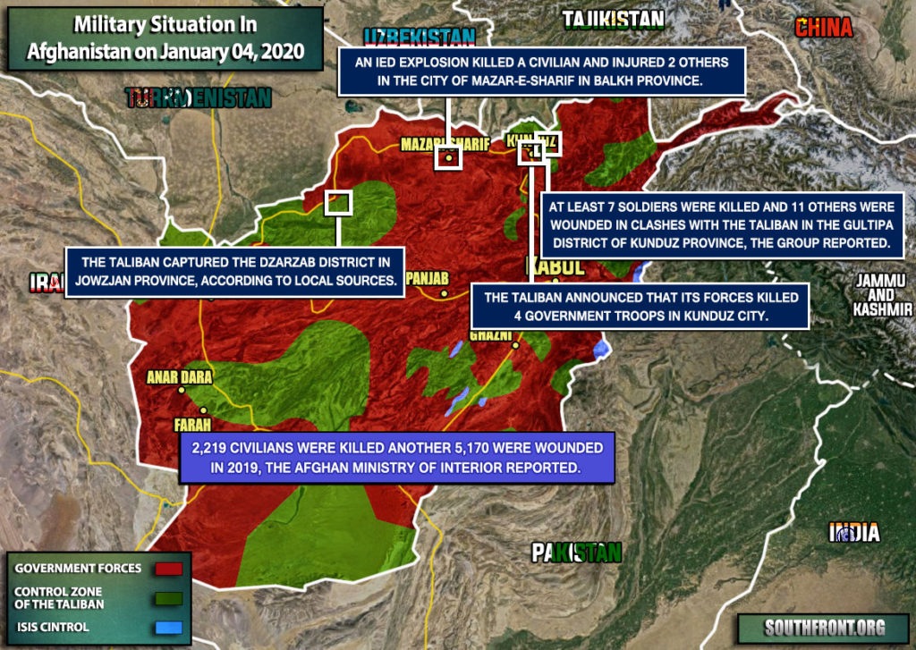 Military Situation In Afghanistan On January 4, 2020 (Map Update)