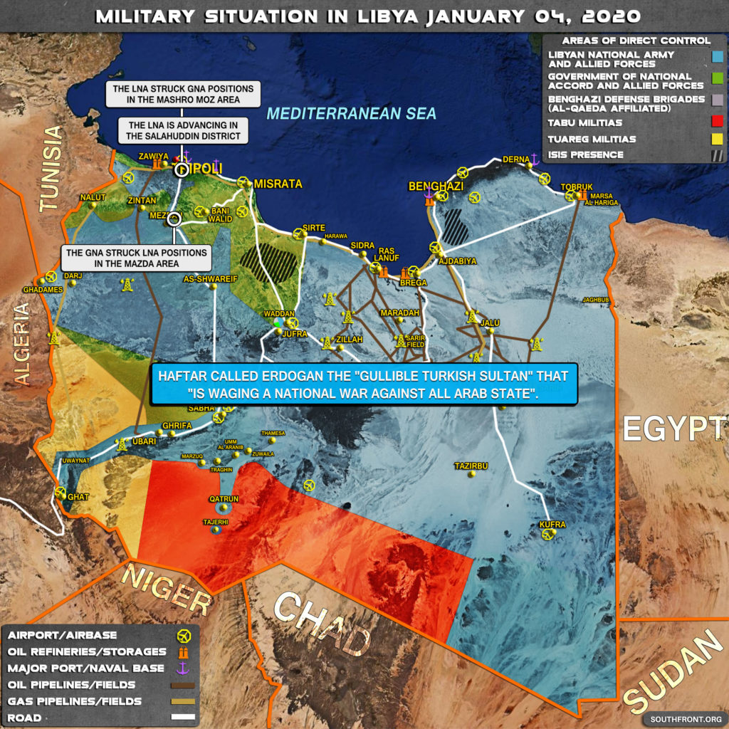 Military Situation In Libya On January 4, 2019 (Map Update)