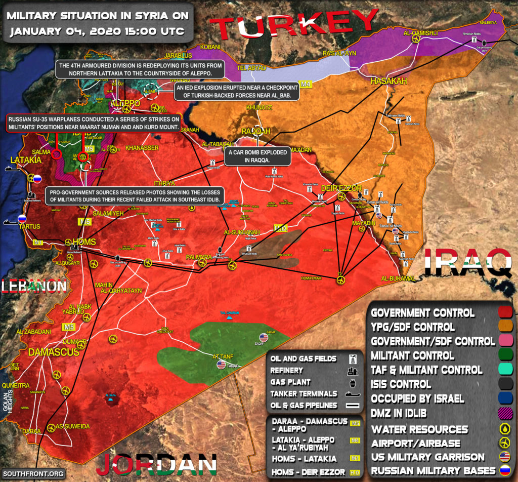 Military Situation In Syria On January 4, 2020 (Map Update)