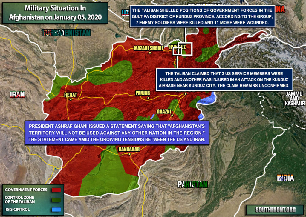 Military Situation In Afghanistan On January 5, 2020 (Map Update)