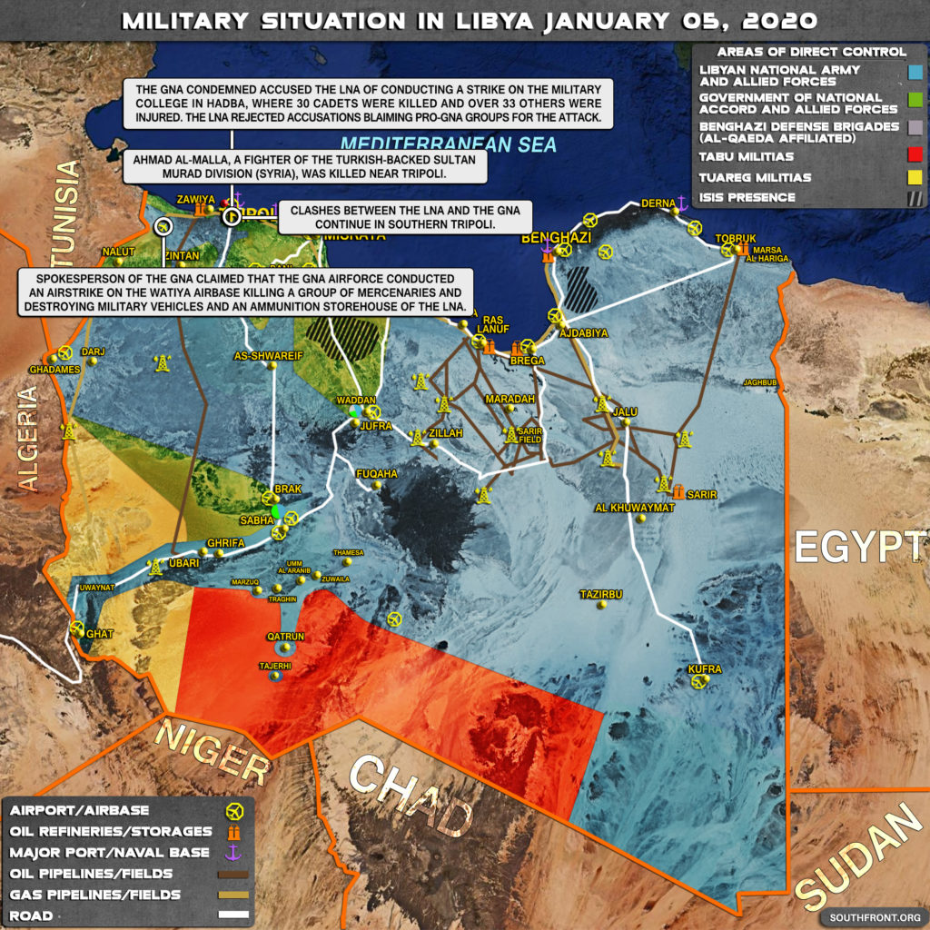 Military Situation In Libya On January 5, 2019 (Map Update)