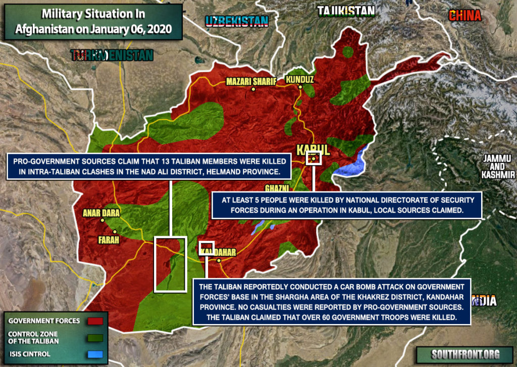 Military Situation In Afghanistan On January 6, 2020 (Map Update)