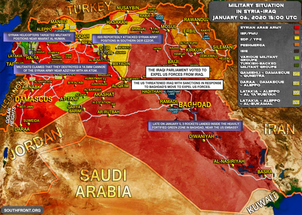 Military Situation In Syria And Iraq On January 6, 2020 (Map Update)