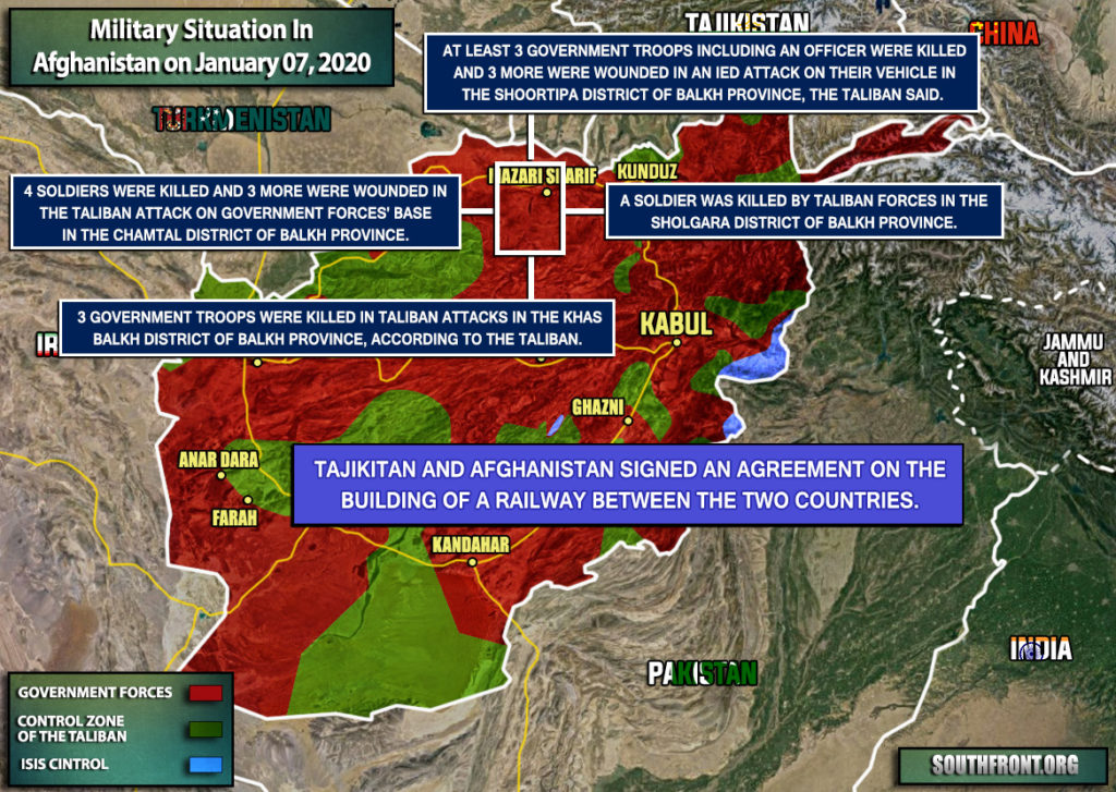 Military Situation In Afghanistan On January 7, 2020 (Map Update)